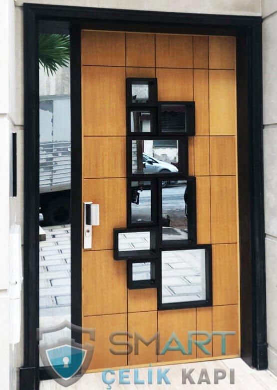 SVK-016kutu-camlı-villa-kapısı-kompak-lamine-smart-çelik-kapı