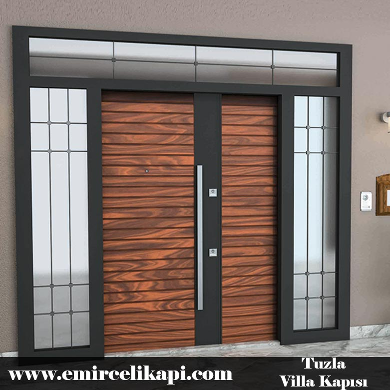Tuzla Villa Kapısı 2021 Villa Kapı Modelleri Villa Giriş Kapısı Fiyatları İndirimli Villa Kapısı Kompozit Dış Mekan Çelik Kapı