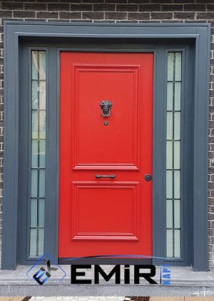 Kırmızı Villa Kapısı Göktürk İstanbul Villa Kapıları