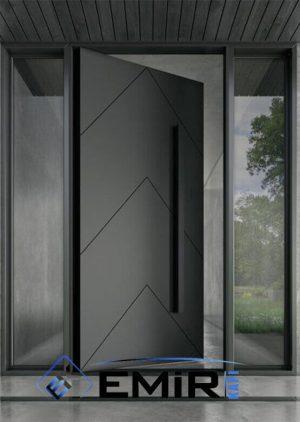 Antrasit Villa Kapısı Kompozit Kompak VK-001