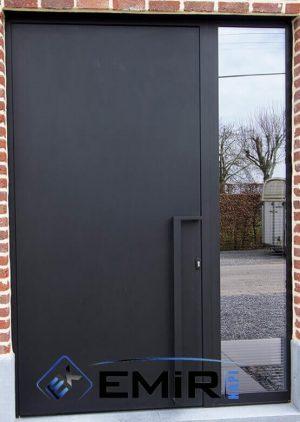 Siyah Villa Kapısı Kompozit VK-084