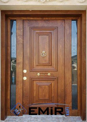 Ferforjeli Ahşap Kaplama Villa Kapısı VK-039