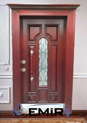Camlı Tek Kanat Villa Kapısı İndirimli VK-032