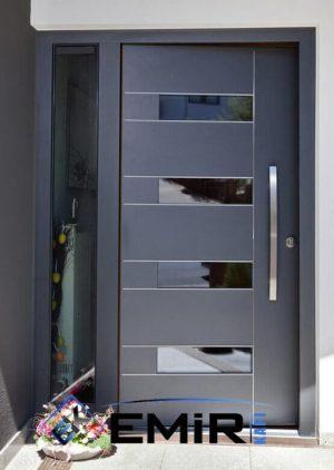 Antrasit Villa Giriş Kapıları Kompozit Kaplama VK-025