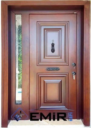 Doğal Ahşap Kaplama Klasik Villa Kapısı VK-004