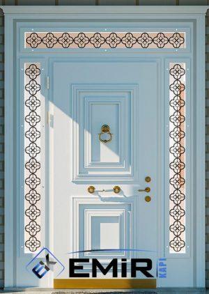 Beyaz Altın Yaldızlı Villa Giriş Kapısı VK-002
