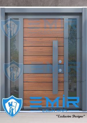Modern Tasarım Kompak Lamine Çelik Villa Kapısı VK-015
