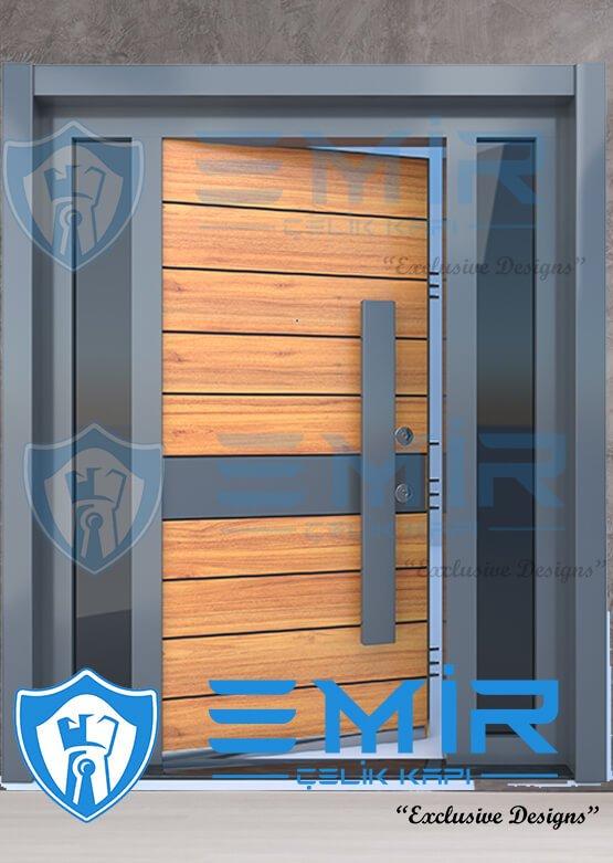 Villa Kapısı İndirimli Villa Giriş Kapıları Kompozit Villa Kapısı Camlı Dış Mekan Çelik Kapı7
