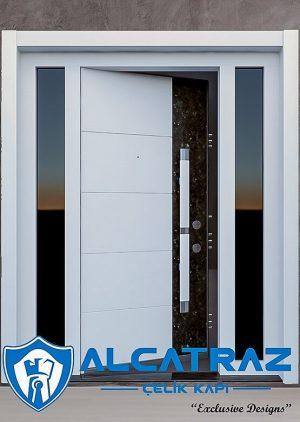 Granit Detaylı Modern Villa Giriş Kapısı VK-016