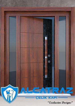 Özel Tasarım Modern Villa Giriş Kapısı Granit Desenli VK-019