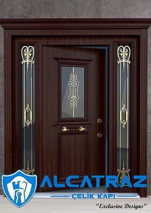 Lüks Villa Kapısı Altın Varak Ferforjeli VK-072