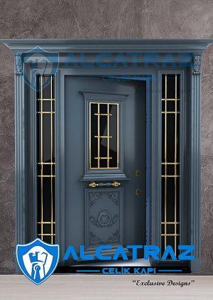 Antrasit Villa Kapısı Klasik Özel Tasarım Dış Kapı Fiyatları VK-026