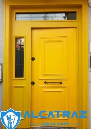 Sarı Villa Kapısı Carleone Çelik Kapı VK-100