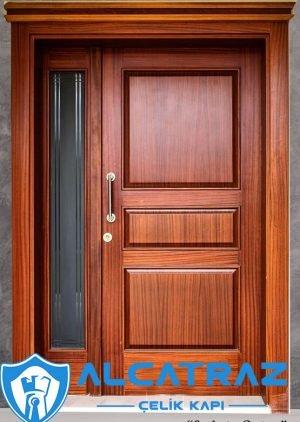 Ahşap Kaplama Çelik Dış Villa Kapısı VK-007