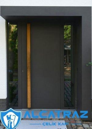 Antrasit Villa Kapısı Kompozit Dış Kapı Çelik Kapı VK-097