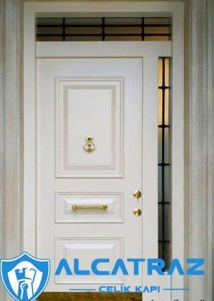 Beyaz Villa Kapısı Klasik Tasarım Dış Kapı VK-006