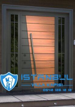 istanbul villa kapısı yeni sezon kompak villa kapıları kompozit villa giriş kapısı camlı dış kapı modelleri