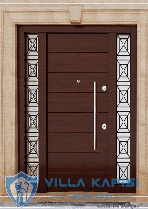 Ferforje Klasik Villa Kapısı Modelleri Ahşap Kaplama Çelik Villa Giriş Kapısı Çelik Kapı Villa Kapıları Fiyatları Modelleri istanbul villa kapısı