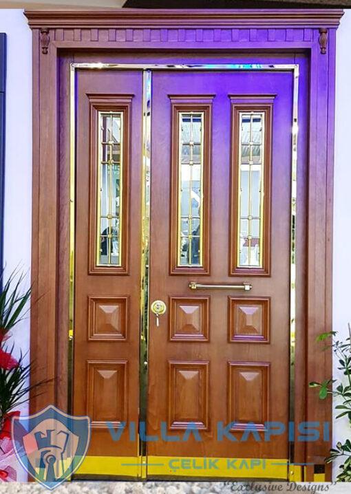 Klasik Villa Kapısı Modelleri Ahşap Kaplama Çelik Villa Giriş Kapısı Çelik Kapı Villa Kapıları Fiyatları Modelleri istanbul villa kapısı