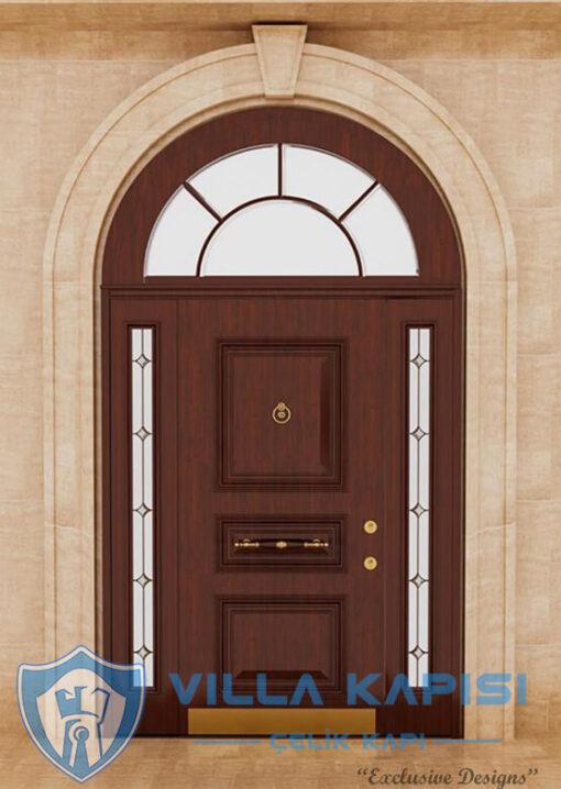 Kubbeli Kemerli Klasik Villa Kapısı Modelleri Ahşap Kaplama Çelik Villa Giriş Kapısı Çelik Kapı Villa Kapıları Fiyatları Modelleri istanbul villa kapısı