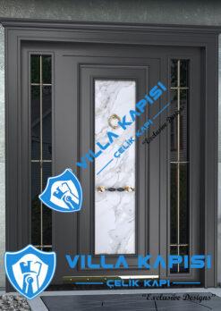Antrasit Modern Villa Kapısı Kompozit Villa Kapısı Modelleri Kompak Villa Kapıları İstanbul Villa Giriş Kapısı Çelik Kapı