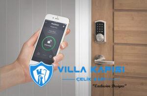modern villa kapısı akıllı kilit sistemleri